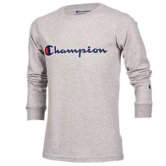 champion t shirts long sleeve
